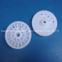 injection plastic mould white small Delrin POM gear wheels