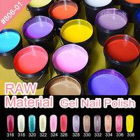 Nail Polish Bulk buy from China 806W 207 colors Polish Gel Raw Material 1kg LED UV gel nail polish