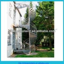 verzinktem stahl mehs gel nder wendeltreppe treppe kits mit cental beitrag helikalen treppe. Black Bedroom Furniture Sets. Home Design Ideas