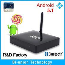 Quad Core Android TV Box S905 1G+8G mx9 tv box android5.1 malaysia astro hdtv apk