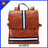 2014 New women hit color travel shoulders bag brown leather backpack