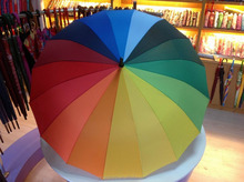 New rainbow umbrella 16K rainbow umbrella creative vertical bar rainbow umbrella