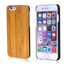 mobile phone accessories Genuine wood wooden rubber cover for iphone 6