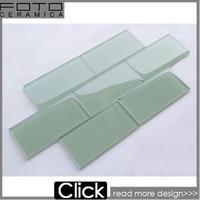 Color subway self adhesive glass tile 3x6