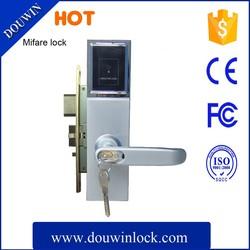Hotel mortise latch card swipe door lock