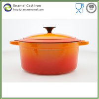 authentic kitchen cookware food casserole pink cast iron enamel pan casserole hot pot restaurant equipment