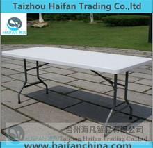 Acero inoxidable 180 cm plástico mesa de jardín para el partido / venta caliente mesa buffet con patas desmontables