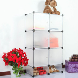 Fashion folding wardrobe combination with transparent white color(FH-AW23619-6)