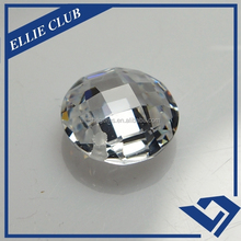 high quality white round cut 6mm facet cutting cubic zirconia cz stone