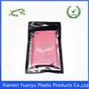 Reusable self sealing zip lock cellphone accessories packaging bag with window