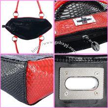 canvas leather pu handbag Shoulder Women Handbag