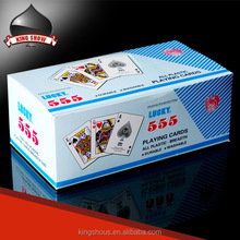 Hot sale 555 playing cards with gift set