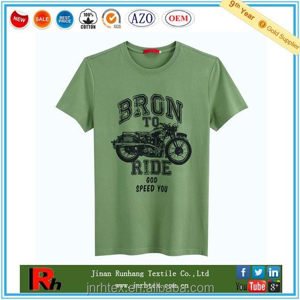 Custom 100 ring spun cotton printed t shirt wholesale for Custom printed t shirts in bulk
