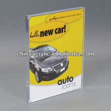 clear acrylic magnet display for menu,leaflet, flyer,etc