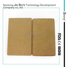 2015 new products Stretch Aid Health Fitness Pilates Exercise Gym Yoga Block Cork Brick , Natural Fitness Cork Yoga Block