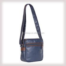 PU leather message shoulder bag