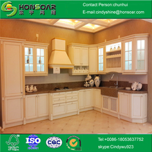 PVC door cheap modern kitchen cabinets for high quality