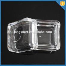 LXHY-J057 crystal square shape 1 oz glass jar