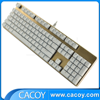 OEM factory price professional aluminum alloy interface wired backlit gaming mechanical keyboard