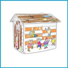 OEM DIY children cardboard play toy house