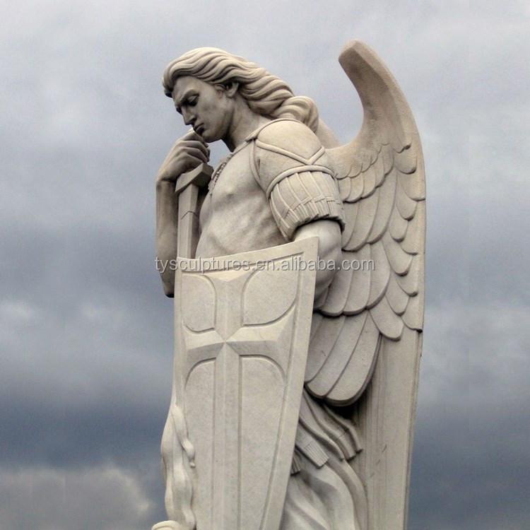 famous stone sculptures antique large marble male angel killing