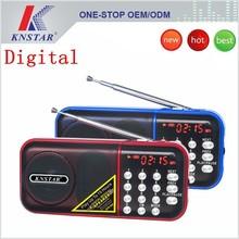 Portable multimedia mini digital radio speaker with tf card usb slot