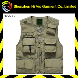 Hot sell men's Multi-pocket Fishing Vest