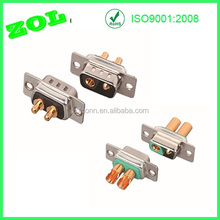 DIP Type 2V2 Male D-sub Connector