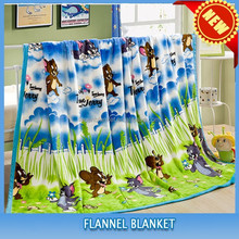 alibaba china supplier 100% polyester lovely supper soft knitted child super model blanket