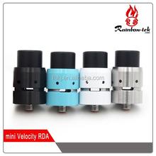 best selling mini velocity rda hot!!! RDA/RBA velocity mini rda ss/black velocity rda mini with fast delivery