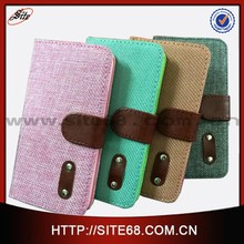 Guangzhou Wholesale price for samsung case New Flip Leather Case for samsung S5,fiber pattern flip phone cover for S5
