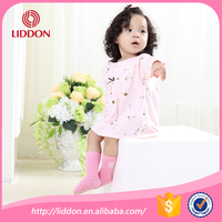 Mama choosed comfort and soft pattern jacquard cotton baby girl's tube baby socks