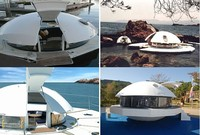 Round Houseboat house boat for sale
