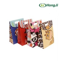 Wholesale Velcro Closure Cartoon Animals Gift Package Paper Bag