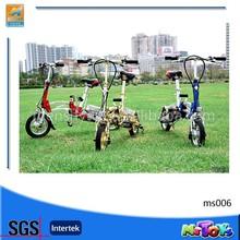 Folding riding motorized bicycle/electric bike