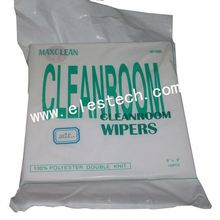 Non-woven wipers for wiping glass,Cleanroom wipers double knit,100%polyester double knit