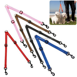 2015 New nylon dog leash material for two dogs easy walking
