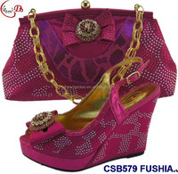 CSB579 ORANGE latested women shoes and bag to match clothes