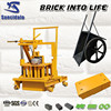 QT40-3C concrete block machine, small mobile block machine, cement block making machine for construction
