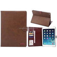 Crazy Horse Lines Full Body Leather Case with Card Slot and Stand for iPad Air 2