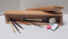 Custom logo and color wooden makeup brush box,wood pencil boxes