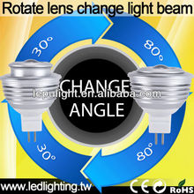 Beam angle change freely!!!SHARP COB 5W MR16 LED Spotlight CRI>85