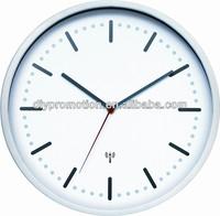 Round shape big size radio controlled wall clock with radio controlled clock movement