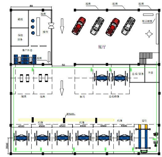Wholesale 3 auto workshop design samples and equipment for Auto repair shop layout design