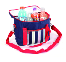 600D Stripe cooler bag with tote handle
