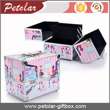 hot selling trended deisgn aluminium cosmetic box packaging make up case