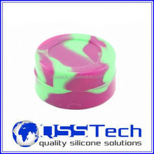 Hot sale cured 3ml ceramic water jar/ silicone customized bho oil container/ silicone bho container