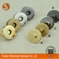 Fashion bags accessories strong magnetic snap fastener round 18mm for handbags and purses