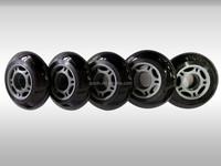 pro inline skate polyurethane rubber wheel, OEM skates wheel, inline skate wheel 80mm