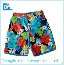 stylish quality 100% polyester men swim trunks